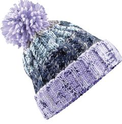 Strickmütze Kinder Mädchen dicke Wintermütze warm gefüttert Fleece Bommelmütze Grobstrick Bunt Neverless®