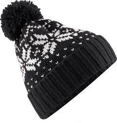 Strickmütze Damen Norweger Mütze Wintermütze Bommelmütze Rippstrick Neverless®