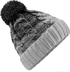 Strickmütze Damen Grobstrick Pudelmütze zweifarbig Ombré Bommelmütze Winter-Mütze Neverless®