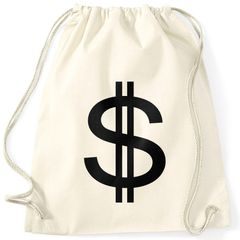 Turnbeutel Dollar Zeichen Symbol Money Bag Geldsack Moonworks®