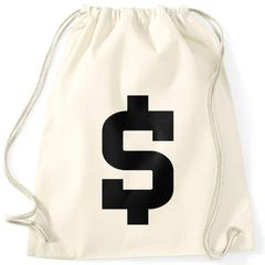 Turnbeutel Dollar Zeichen Symbol  Geldsack Money Bag Moonworks®