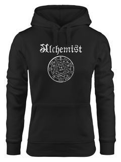 Damen Hoodie Alchemist Symbol Vintage Alchemie Steampunk Gothic Kapuzen-Pullover Neverless®