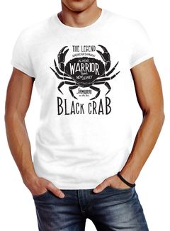 Herren T-Shirt Black Crab Krabbe Krebs Slim Fit Neverless®