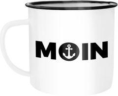 Emaille Tasse Becher Moin Anker Kaffeetasse Moonworks®