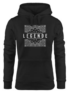 Damen Hoodie Legende Paisley Muster Kapuzen-Pullover Frauen Neverless®