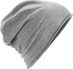 Damen Beanie Jersey Mütze einfarbig Roll-up Neverless®