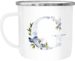 """Emaille Tasse Becher Buchstaben-Tasse """"G"""" Alphabet Monogram Zeichen Tasse mit Buchstabe Autiga®"""
