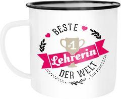 Emaille Tasse Becher Beste(r) Papa, Mama, Oma, Opa, Chef, Chefin, Freund, Freundin der Welt Kaffeetasse Moonworks®