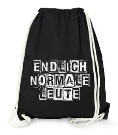 Turnbeutel Endlich normale Leute Fun Party Festival Tasche Jutebeutel Moonworks®