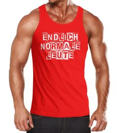 Herren Tanktop Endlich normale Leute Fun Party Shirt Festival Tanktop Moonworks®