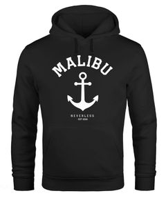 Hoodie Herren Anker Malibu Anchor Kapuzen-Pullover Männer Neverless®