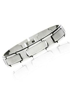 Hochwertiges Herren Armband aus Edelstahl Silberfarben Design Gliederarmband Bindeglied