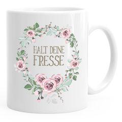 Kaffee-Tasse Schimpfwörter Beleidigung Ironie Geschenk-Tasse lustige Büro-Tasse MoonWorks®