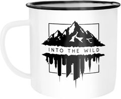 Emaille Tasse Becher Into The Wild Berge Skyline Kaffee-Tasse Autiga®
