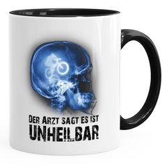 Kaffee-Tasse Xray Der Arzt sagt es ist unheilbar Hobby Röntgenbild Bike Fahrrad Downhill Geschenk-Tasse Moonworks®