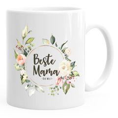 Kaffee-Tasse Beste Mama der Welt Muttertag Watercolor Geschenk-Tasse MoonWorks®