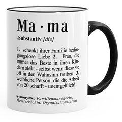 Kaffee-Tasse Mama Definiation Dictionary Duden Wörterbuch Geschenk Muttertag MoonWorks®