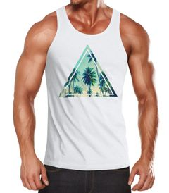 Herren Tank Top Foto Print Ananas Palmen Galaxy Sommer Tropical Neverless®