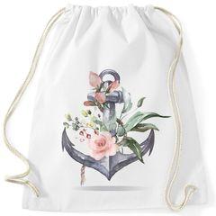 Turnbeutel Anker Blumen Watercolor Gymsac Baumwolle Autiga®