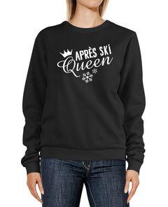 Sweatshirt Damen Winter Spruch lustig Après Ski Queen Rundhals-Pullover Party MoonWorks®