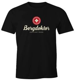 Herren T-Shirt Bergdoktor Après Ski Hüttengaudi Ski-Party Fun-Shirt Moonworks®