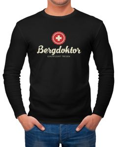 Herren Long-Sleeve Bergdoktor Après Ski Hüttengaudi Ski-Party Langarm-Shirt Moonworks®