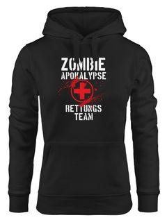 Kapuzen-Pullover Damen Zombie Apokalypse Rettungsteam Fasching Halloween Verkleidung Horror Hoodie Moonworks®