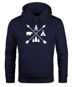 Hoodie Herren Hipster Cross Wandern Camping Abenteuer Adventure Kapuzen-Pullover Männer Neverless®