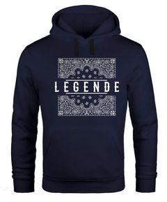 Herren Hoodie Legende Paisley Muster Kapuzen-Pullover Männer Neverless®