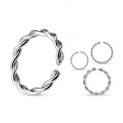 Continuous Ring Seamless Ring O-Ring Piercing Ring Chirurgenstahl gedreht Autiga