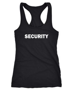 Damen Tanktop Security Fasching Karneval Fun-Shirt Racerback Moonworks®