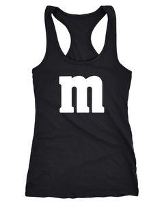 Damen Tanktop Gruppen-Kostüm M Aufdruck Kostüm Fasching Karneval Verkleidung Racerback Moonworks®