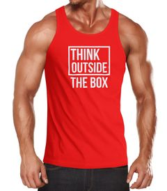 Herren Tanktop Think Outside the Box Moonworks®