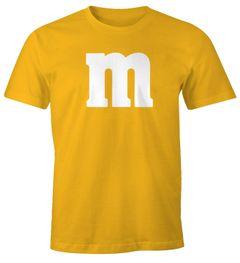 Herren T-Shirt Gruppen-Kostüm M Aufdruck Kostüm Fasching Karneval Verkleidung Männer Fun-Shirt Moonworks®