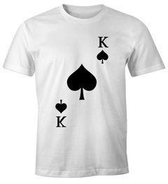 Herren T-Shirt Kartenspiel Kostüm Spielkarten Gruppenkostüm Karten Fasching Karneval Faschingsshirt Moonworks®