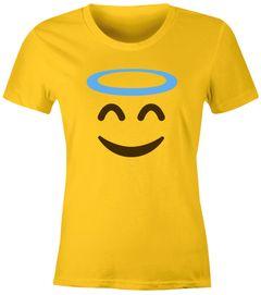 Damen T-Shirt Emoji Gruppenkostüm Fasching Karneval Junggesellenabschied JGA lustig Fun-Shirt Moonworks®