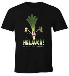 Herren T-Shirt Karneval Fasching Fastnacht Helauch Lauch Helau lustig Fun-Shirt Moonworks®