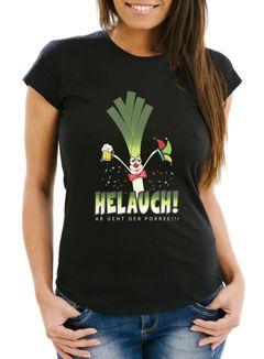 Damen T-Shirt Karneval Fasching Fastnacht Helauch Lauch Helau lustig Fun-Shirt Moonworks®