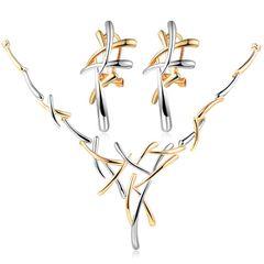 Damen Schmuck-Set Halskette mit Anhänger Ohrringe Ohrstecker Geschenk Autiga®