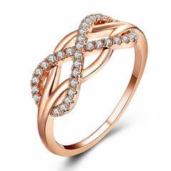 Damen Ring Infinity Unendlichkeit Zirkonia Kristall Strass Autiga®