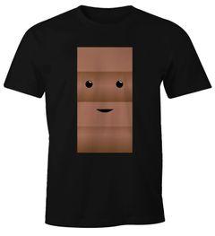 Herren T-Shirt T-Shirt Milch und Schokolade Kostüm Parnterkostüm Pärchen Kostüm Fasching Karneval Moonworks®