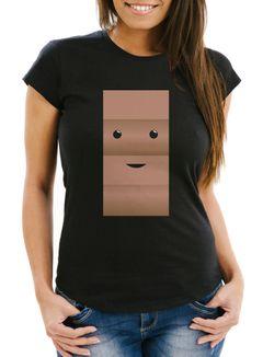 Damen T-Shirt T-Shirt Milch und Schokolade Kostüm Parnterkostüm Pärchen Kostüm Fasching Karneval Moonworks®