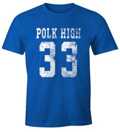 Herren T-Shirt Polk High Trikot Football 90er Fasching Karneval lustig Fun-Shirt Moonworks®