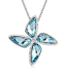 Damen Halskette Windmühle Anhänger Zirkonia Kristall Autiga®