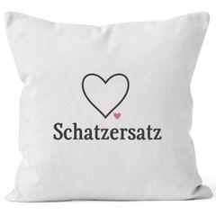 Kissen-Bezug Schatzersatz Schatz Ersatz Valentinstag Liebe Geschenk Kissen-Hülle Deko-Kissen Baumwolle MoonWorks®
