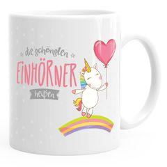 personalisierte Kaffee-Tasse die schönsten Einhörner heißen Wunschname individualisierbare Einhorn-Tasse mit eigenem Namen Unicorn Geschenk-Tasse MoonWorks®