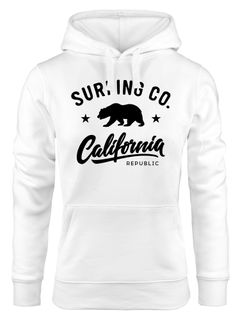 Hoodie Damen California Republic Bear Bär Sommer Surfing Kapuzen-Pullover Neverless®