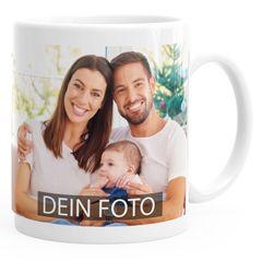 Fototasse, Tasse mit Foto und Text selbst gestalten, personalisierte Geschenke, Fotogeschenke Panorama Moonworks®