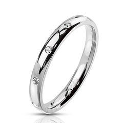 Damen Ring Edelstahl Zirkonia Kristalle Herren Stapelring Bandring Autiga®