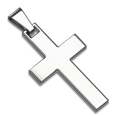 Edelstahl Anhänger Kreuz Halskette Lederkette Kugelkette Damen Herren Autiga®